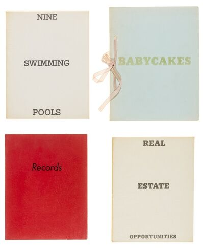 Ed Ruscha, 'Babycakes with Weights; Real Estate Opportunities; Records; Nine Swimming Pools', 1968-1971