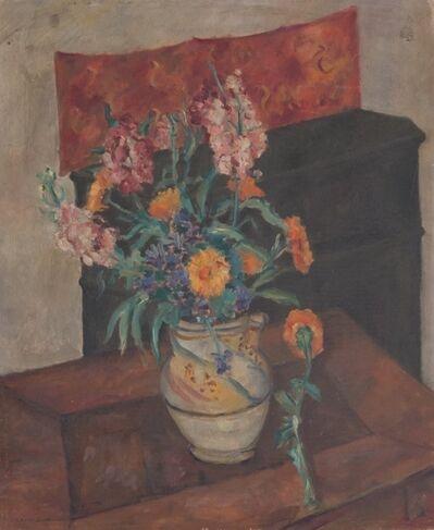 Giuseppe Santomaso, 'Interno con fiori', 1940