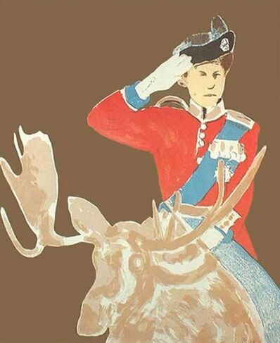 Charles Pachter, 'Queen on Moose', 1973