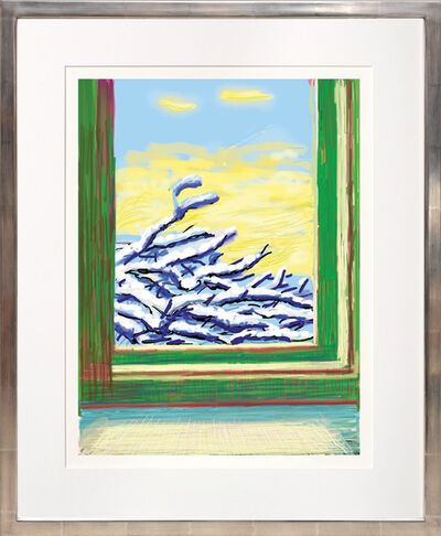 David Hockney, 'My Window with iPad drawing No. 610, 23rd December 2010. [Snow Covered Boughs.]', 2020