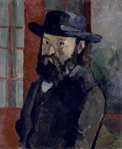 Paul Cézanne, 'Selbstbildnis mit schwarzem Filzhut (Self-portrait with black felt hat)', ca. 1879