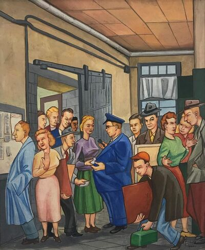 Alfred Tyler, 'Entering the School of the Art Institute', circa 1955
