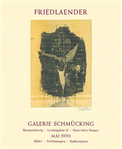 Johnny Friedlaender, 'Ausstellungsplakat Galerie Schmücking, Braunschweig, 1970', 1970