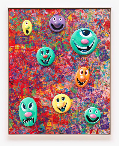 Kenny Scharf, 'Face Facts #3', 2014
