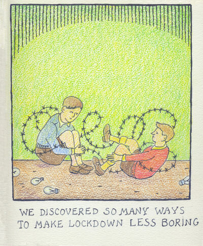 Glen Baxter, 'We discovered so many ways...', 2020