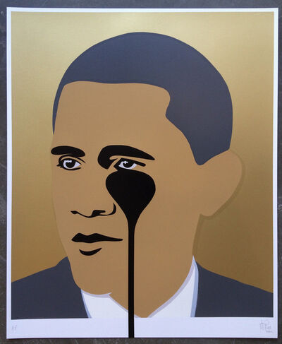 Pure Evil, 'Crying Obama (Gold)', 2016