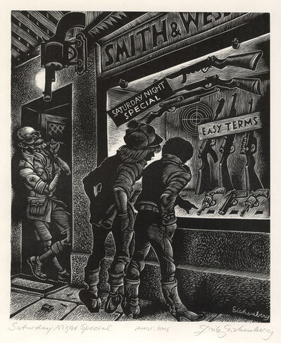 Fritz Eichenberg, 'Saturday Night Special', 1980