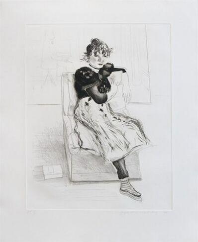 David Hockney, 'Celia Observing', 1976