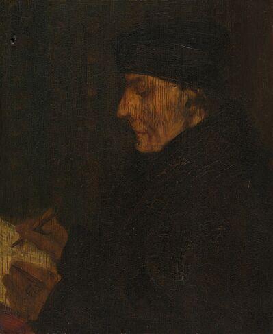 Alphonse Legros, 'Memory Copy of Holbein's Erasmus'