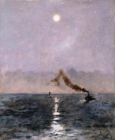 Alfred Stevens, ' Vapeur au clair de lune'