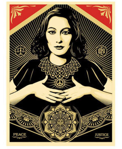 Shepard Fairey, 'Peace and Justice Woman', 2013