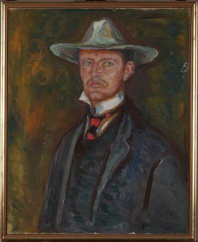 Edvard Munch, 'Selvportrett med bredbremmet hat (Self-Portrait in Broad Brimmed Hat)', 1905-1906