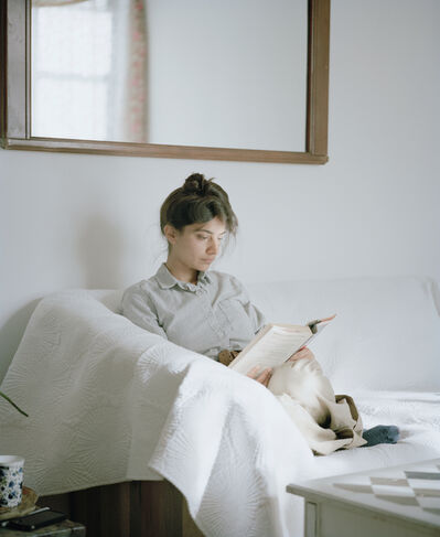 Carrie Schneider, 'Megha reading Edith Wharton (The House of Mirth, 1905) from the series Reading Women (2012-2014)', 2014