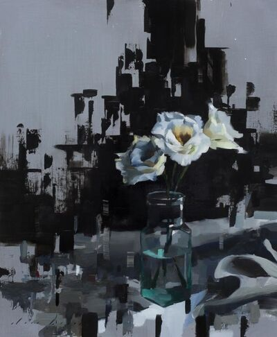 Jon Doran, 'Lisianthus and Black', 2018
