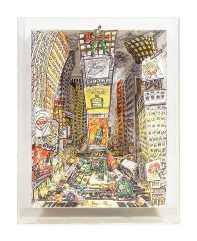 Red Grooms, 'The Boss at Times Square', 1995