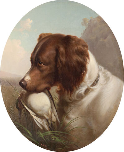 Thomas Hill, 'Hunting Dog', 1865