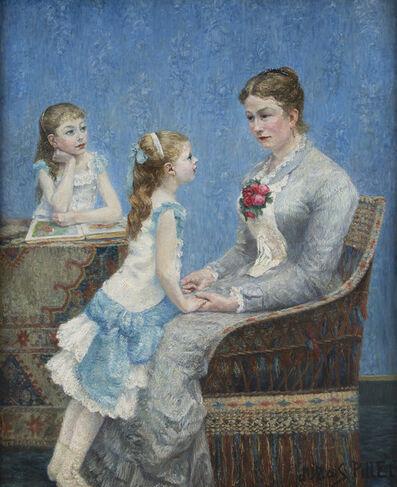 Albert Dubois-Pillet, 'Madame Paul Bouchet et ses filles', 1884