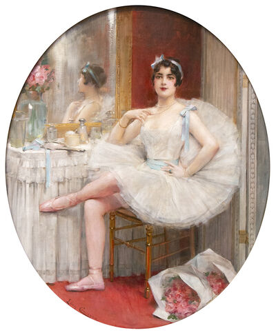 Léon François Comerre, 'La danseuse dans sa loge', Late 19th Century