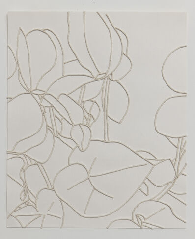 Georgie Hopton, 'White Cyclamen (v)', 2006