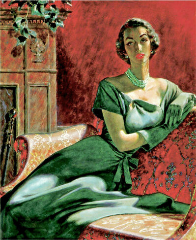 Edwin Georgi, 'Portrait of a Woman, Woman's Magazine Illustration Mid Century', ca. 1950