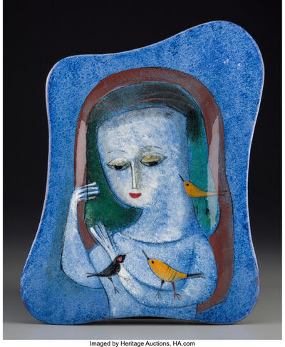 Polia Pillin, 'Portrait of a Woman in Blue', circa 1960