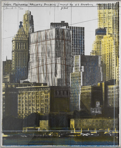 Christo and Jeanne-Claude, 'Lower Manhattan wrapped building, project for 2 Broadway, N. Y', 1984