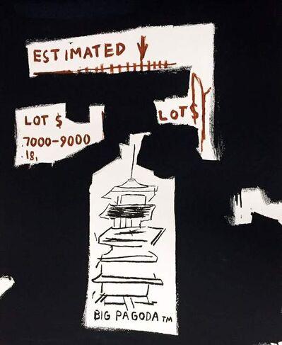 Jean-Michel Basquiat, 'Big Pagoda (Framed), 1997', 1997