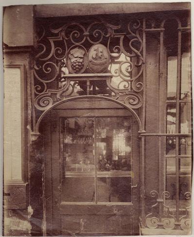 Eugène Atget, 'Grille de Marchand de vin / 3 Rue de l'Arbalète', 1901 / 1901