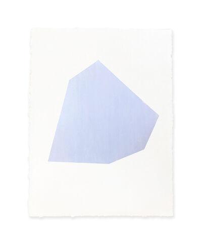 Jeff Kellar, 'white w/blue 2', 2018