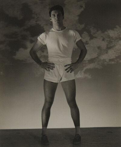 George Platt Lynes, 'Standing Man with White T-shirt and Shorts (Jack Fontan)', ca. 1954