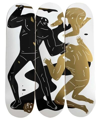 Cleon Peterson, 'The Crawler Skate Deck Triptych', 2018
