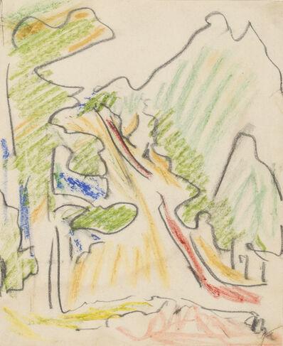Ernst Ludwig Kirchner, 'Sertig Valley, Davos', ca. 1936