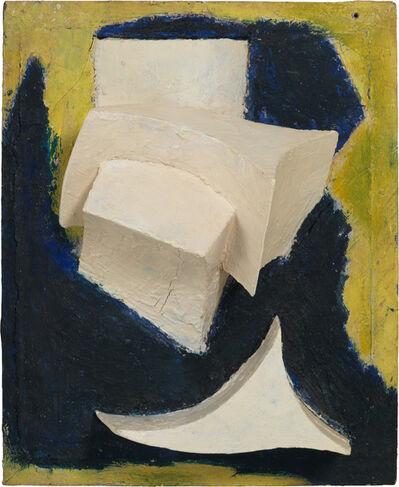 Kurt Schwitters, 'Ohne Titel (Bewegtes Weiss auf Blau und Gelb) ', ca. 1944