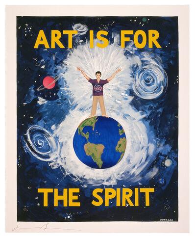Jonathan Borofsky, 'Art is for the Spirit No.______**', 1989