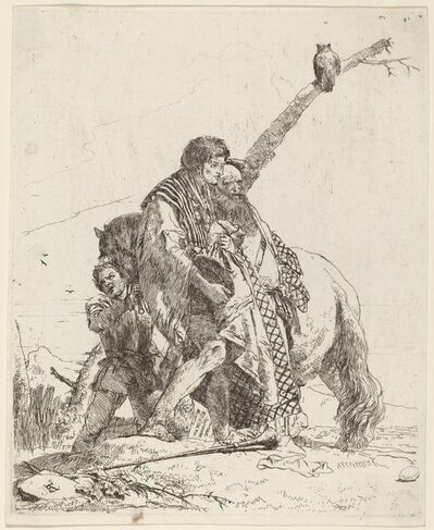 Giambattista Tiepolo, 'Youth, Sage, and Attendant with Horse'