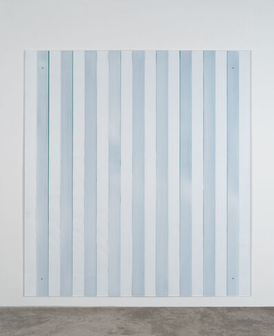 Daniel Buren, 'Painting on/under Plexiglas over canvas, new series Made in USA, green', 2012-2016
