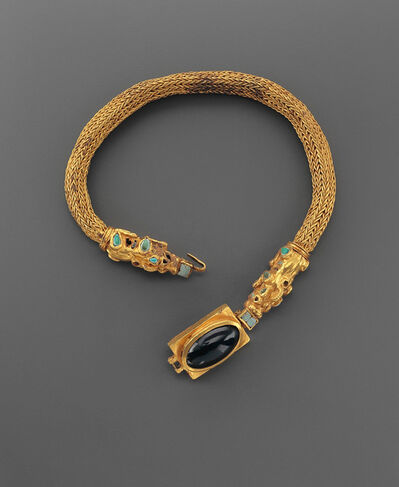Sarmatian, 'LARGE NECKLACE ADORNED WITH SEMI-PRECIOUS STONES AND ANIMALS', 1st century B.C.-1st century A.D.