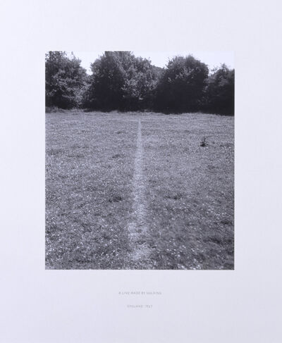 Richard Long, 'A Line Made by Walking', 1967