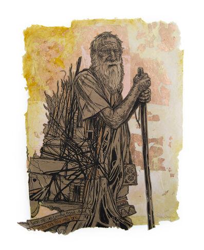 Swoon, 'Milton II (Diogenes)', 2017