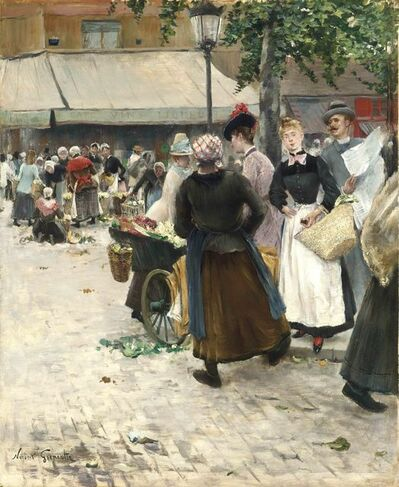 Norbert Goeneutte, 'The Flower Market', ca. 1888