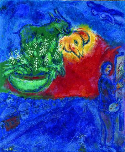 Marc Chagall, 'L'âne vert', 1978