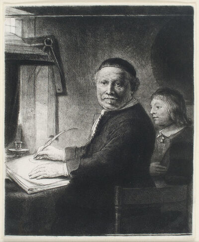 Rembrandt van Rijn, 'LIEVEN WILLEMSZ VAN COPPENOL, WRITING-MASTER: THE SMALLER PLATE', ca. 1658