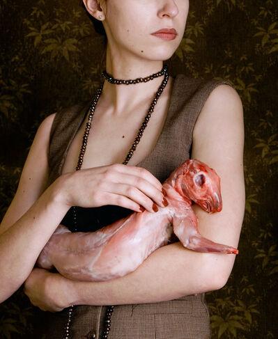Carina Linge, 'Dame mit Kaninchen (Single No. 1)', 2008