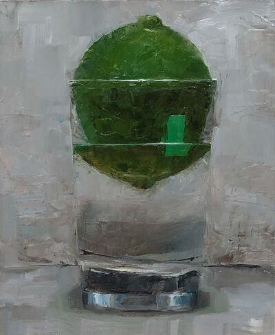 Tom Giesler, 'Floral 20: lime with label', 2020