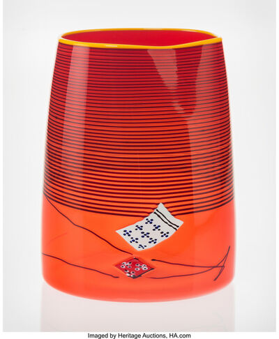 Dale Chihuly, 'Poppy Red Blanket Cylinder', 2000