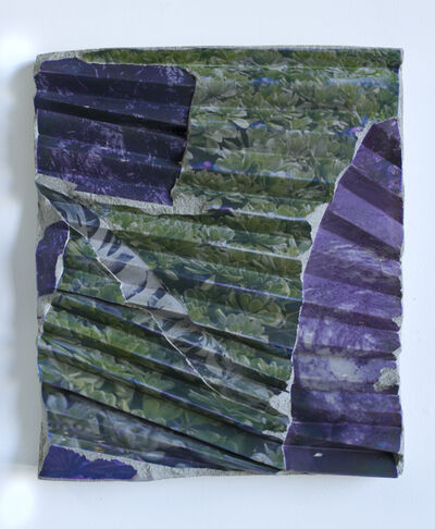 Letha Wilson, 'California Concrete Ripple (green violet)', 2017