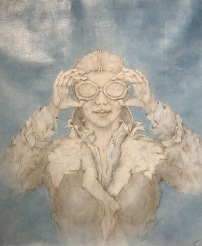 Carla D'Amato, ' SEE SKIES ARE CLEAR (Girl with goggles)', 2020