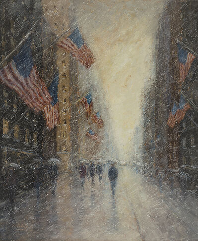 Mark Daly, 'Flags, Presidents Day, Fifth Ave', 2018