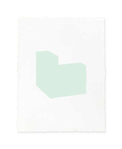 Jeff Kellar, 'white w/green', 2019