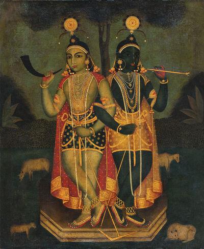 Early Bengal, 'Untitled (Krishna and Balaram)', Not dated